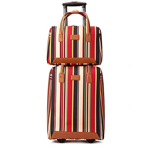 SONGXZ Suitcase Striped Vertical Trolley Bag Multifunktions-Reisegepäck Zweiteiliges Mutterpaket