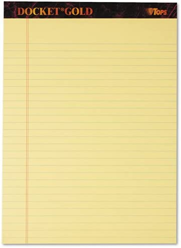 TOPS - Docket Gold Free shipping anywhere in the nation Perforated Canary Letter Legal Rule Pads Max 57% OFF