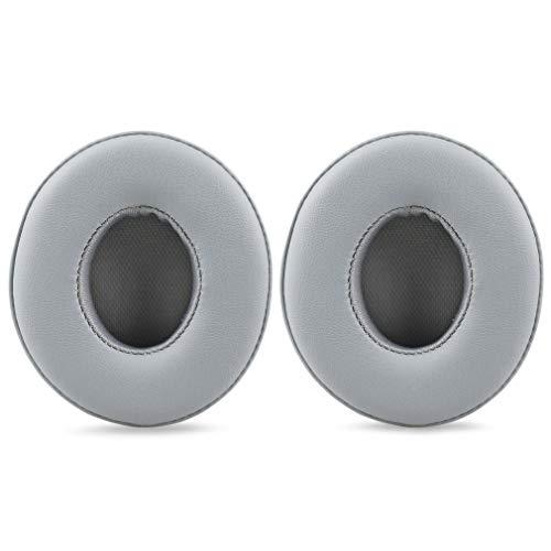 Ohrpolster für Beats Solo 2.0 Kopfhörer, Ersatz-Ohrpolster, Proteinleder und Memory-Schaum, Ohrpolster für Beats Solo 2 Kopfhörer mit Kabel grau