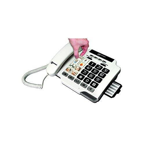 frafito Telefon, kabelgebunden, Photophon, 100 G, Fototasten, kompatibel mit Hörgeräten, GEE003, zertifiziert in Frankreich Medical Industrie
