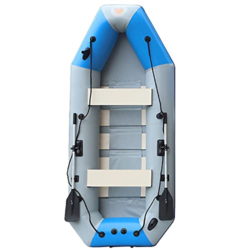 LIUXING-Home Conjunto Inflable De Kayak Barco de Motor Barco de Goma Barco de Pesca Scenic Drifting Boat engrose Barco Inflable Bote De Goma (Color : Blue, Size : 300x130x48cm)