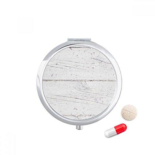 DIYthinker witte houten vloer ruw behang textuur Travel Pocket Pill case Medicine Drug Storage Box Dispenser Spiegel Gift