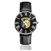 ファッションウォッチ プリント クォーツ ステンレススチール 腕時計 メタルギアソリッド メンズ 40mm カジュアルウォッチ レザーストラップ ファッション 個性