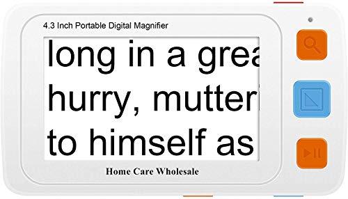Lupa móvil Digital con Pantalla LCD de 4.3 Pulgadas: Proporciona ampliación de Texto de 4x-32x para una Lectura más fácil por Home Care Wholesale