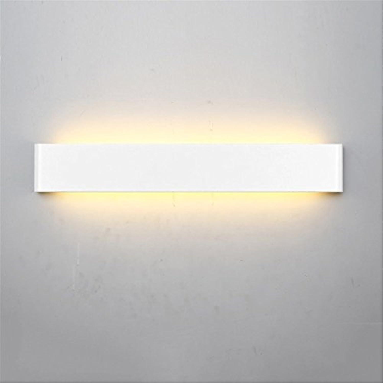 StiefelU LED Wandleuchte nach oben und unten Wandleuchten Schlafzimmer Nachttischlampe Treppe Strae Wohnzimmer wand hintergrund Wall, 60cm - Weiß Box [24 w-warmes Licht]