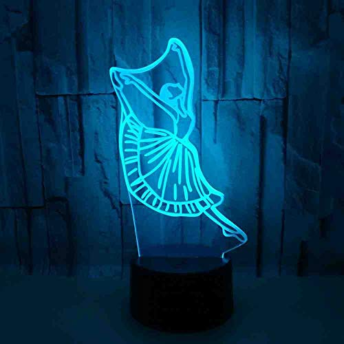BJDKF LED-bureaulamp met 3D-effect voor school Materna voor het bestellen van artikelen, LED-tafellamp met nachtlampje