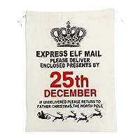 巾着袋 ラッピング袋 包む プレゼント クリスマス用 収納 全4種 - クラウン