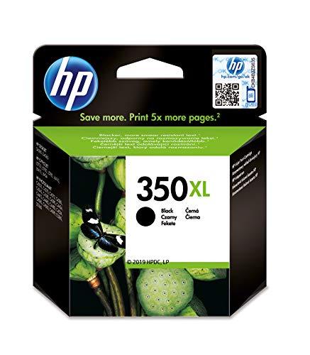 HP 350XL CB336EE, Negro, Cartucho de Tinta de Alta Capacidad Original, compatible con impresoras de inyección de tinta HP Deskjet D4260, D4300, Photosmart C5280, C4200, Officejet J5780, J5730