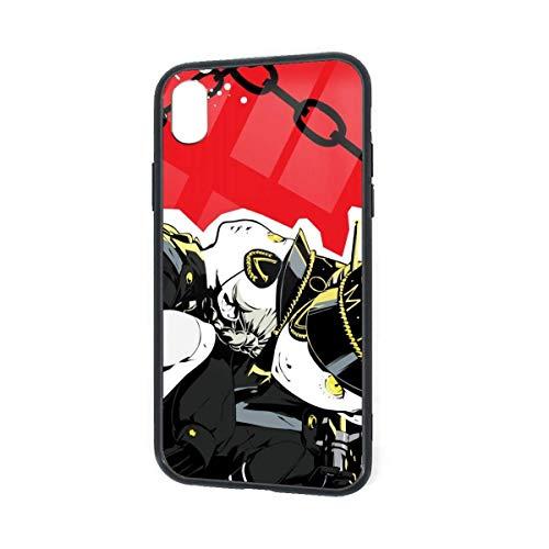 DZCP-y Custodia per Telefono Anime Persona 5 -Caroline e Justine per iPhone XR Custodia per Telefono in Vetro TPU