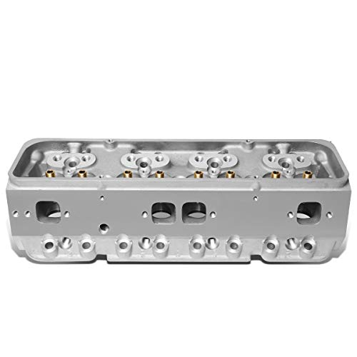 DNA Motoring CYLH-SBC-350 Aluminum Bare Cylinder Head (For Chevy SBC 302/327/350/383/400), 1 Pack,Silver