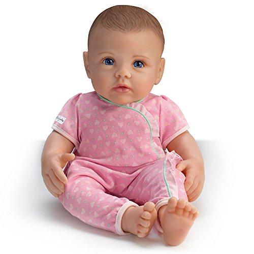 The Ashton - Drake Galleries So Truly Mine Lifelike Baby Doll for Kids Ages 3+: Dark Brown Hair, Blue Eyes