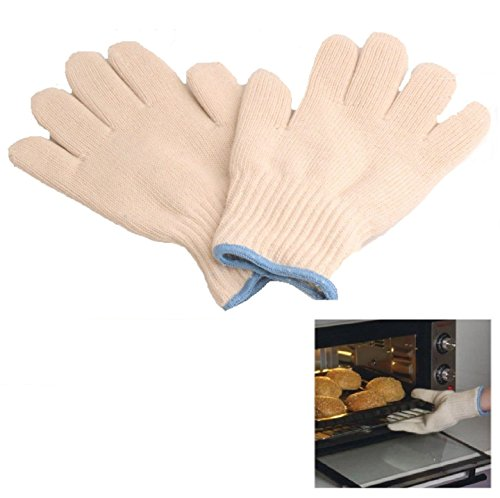 SMARTSTORE High Heat Protection OVEN GLOVES -Kitchen, Cooking Gloves, Pot Holder, Keep Skin Cool..Kitchen, Restaurant, Cafe, Cooking, Baking & Barbecue Gloves