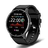 Over The Clound LIGE 2021 Neue Smart Watch Herren Full Touch Screen Sport Fitness Uhr IP67 Wasserdicht Bluetooth für Android iOS Smartwatch Herren + Box (Schwarz)