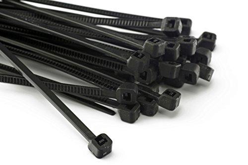 Lot de 100 serre-câble, 200 x 2,5 mm-vent zaunblende pour clôture-noir