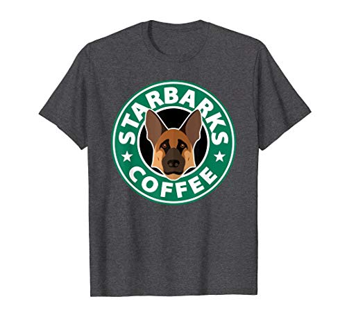 cettire Starbarks Coffee German Shepherd T-Shirt - T Shirt for Men and Woman.