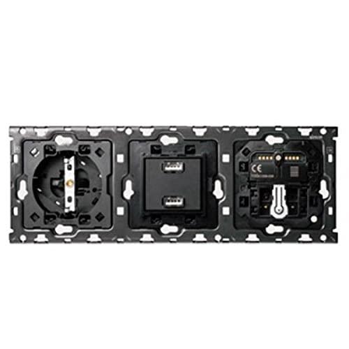Kit de 1 base, 1 cargador, 2 USB, 1 persiana y 1 cruzamiento, serie 100, 3 x 12 x 7 centímetros, color negro (referencia: 10010301-039)