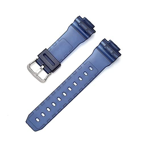 ZXF Correas Reloj Silicona, Sports Buceo Reloj Correa Color Resina PU Correa de Reloj de Reloj Hombre y Mujer (Color : Azul, Size : 16mm)