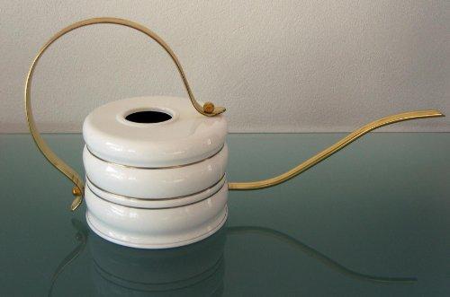 Gießkanne MADE IN GERMANY, 1,2 L, aus Messing, weiß lackiert, hochwertige Qualität