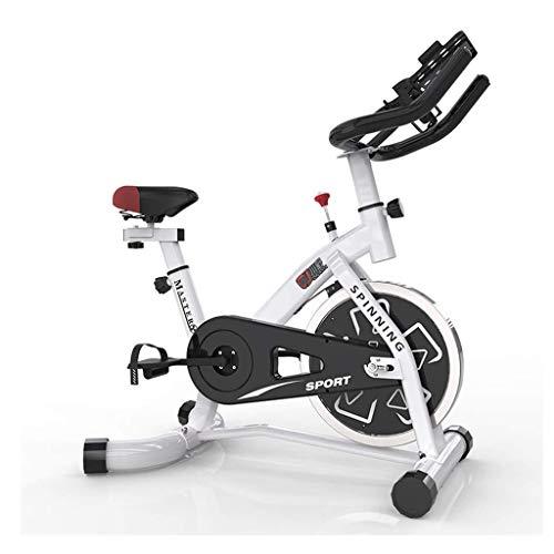 SOHOH Spinning Bicycle Exercise Bike Indoor Training Fahrrad, Sportausrüstung Aerobic-Trainingsgerät Kann Nach Eigenen Wünschen Angepasst Werden. Geeignet Für Das Heim-Fitnessstudio,Weiß