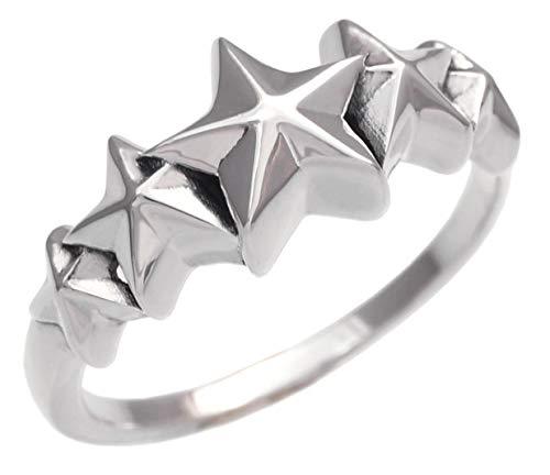 r0707-23 [ブランド名:2PIECES] シルバーアクセサリー リング メンズ レディース スター 星 ファイブスター (23号)