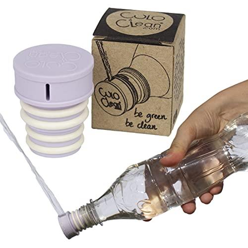 CuloClean Bidé De Mano. El bidet portátil más Discreto. Compatible con cualquier botella de plástico. De viaje, wc con agua caliente, ducha sanitaria, inodoro, acoplable, tapón (CuloClean, 1pcs Lila)