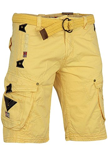 Geographical Norway bermuda shorts Perle Men, Couleur:Light Yellow;Tailles de pantalons:M