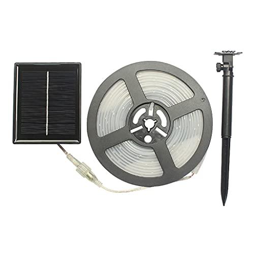 MagiDeal Tira de Luces solares, Tira de Luces LED 100 de 16.4ft luz Solar Impermeable al Aire Libre para terraza, jardín, hogar, Boda, Patio - Blanco