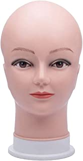 HAIREALM Wig Making Head Bald Mannequin Head Wig Making Display Hat Display Glasses Display Head GT01P