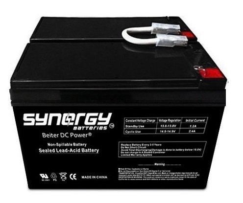 Replacement Battery for APC Back-UPS RS 1500-12V 8ah Kit of 2