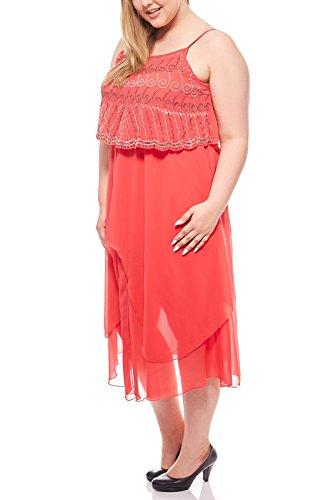 Ashley Brooke Damen Designer-Cocktailkleid, koralle, Größe:44