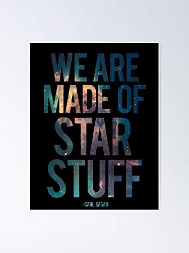 AZSTEEL Póster con cita de Carl Sagan