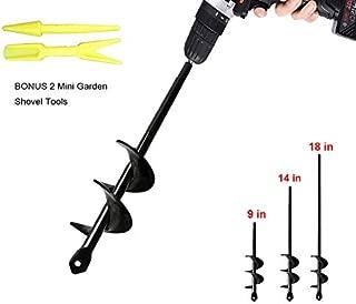 TCBWFY Auger Drill Bit Garden Plant Flower Bulb Auger Rapid Planter Bulb & Bedding Plant Auger for 3/8