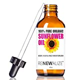Sunflower Seed Face Moisturizing Oil 4 oz size High Linoleic   Best for Acne Prone Oily Skin and Face