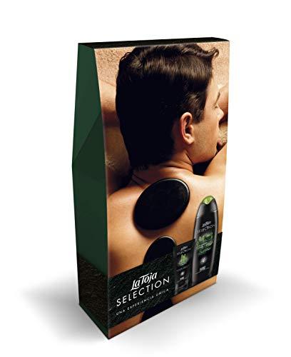 La Toja Selection - Pack Regalo para Hombre (Gel de Baño Esencia de Madera, 500 ml + Crema de Afeitar Bambú y Ginseng, 125 ml)