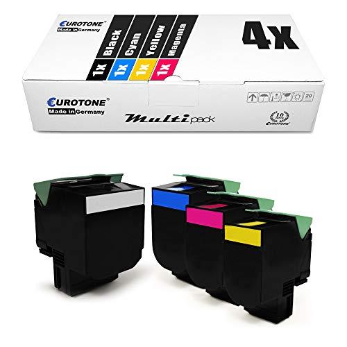4X Müller Printware XXL Toner im Set für Lexmark CS317DN CS417DN CS517DE CX317DN CX417DE CX517DE CS 317 417 517 DN DE ersetzt 71B0010 71B0020 71B0030 71B0040