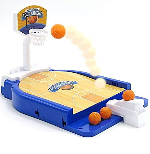 Dazzling Toys Mini Basketball Table Game - Miniature Game for Ages 3 and Up   Classic Mini Basketball Tournament Table Top Games for Sports Fans and Fanatics