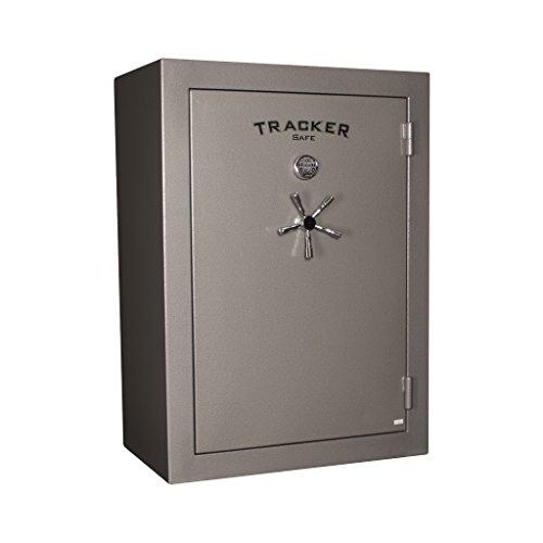 Tracker Safe Gun Safe With Electronic Lock, 30 Min. Fire Rating, 27x42x59, 64 Gun Cap., Gray