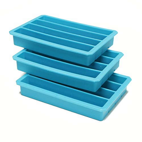 Webake 3 Pack Silicone Ice Cube Trays for Water Bottles Ice Cube Mold 12 Cavity, Easy Release Long Ice Cube Sticks For Bottled Beverage, Soda, Sport Drinks, Burritos Egg