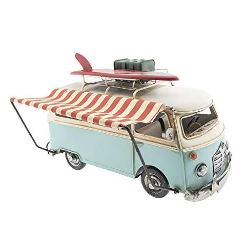 Clayre & Eef GWAU5 model bus luifel surfplank koffer ca. 28 x 14 x 18 cm vintage decoratie