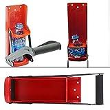 Chacerls Trituradora de latas Trituradora de latas 500ML Mango de Goma de Acero Rojo Herramienta de Reciclaje de Botellas de...