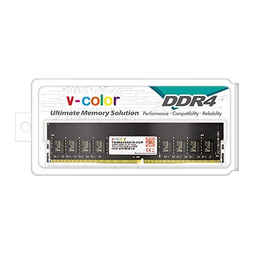 v-Color TD48G26S819-VC Arbeitsspeicher (8 GB (1 x 8 GB) DDR4 DRAM 2666 MHz (PC4-21300) CL19 1,2 V U-DIMM Desktop Memory RAM Upgrade Modul