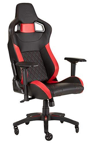 CORSAIR WW T1 Gaming Chair Racing Design, Black/Red