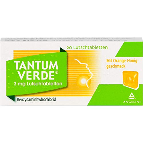 Tantum Verde Lutschtabletten mit Orange-Honig-Geschmack, 20 St. Tabletten