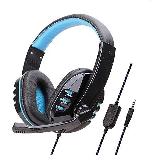 auriculares Auriculares Auriculares de juego sobre oído, Auriculares Cantante Gamer Estéreo Estéreo Con Cancelación Auricular Auriculares con cancelación de ruido con micrófono for por PS4 Xbox