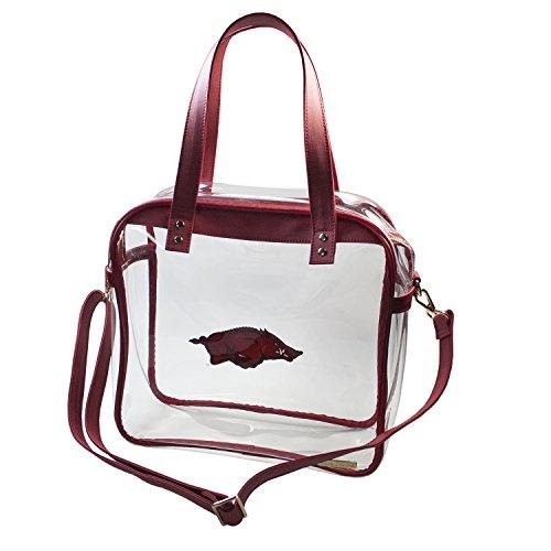 Universidad de Arkansas Razorbacks Capri diseños claramente Fashion con Licencia Claro Bolso Tote Cumple con los requisitos de Estadio
