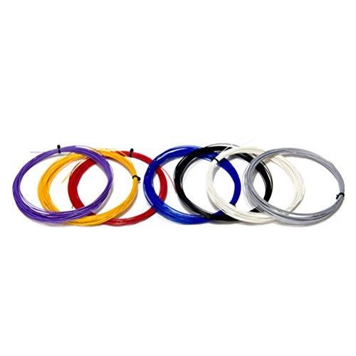 WINOMO Federball Badminton Saiten elastische geflochtene Schnur Linien für Badmintonschläger (Line 85)