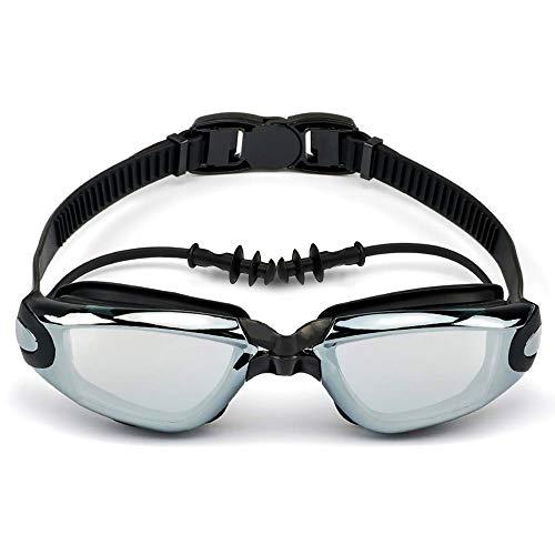 Moikin スイミングゴーグル 近視用 度付き 水中メガネ 水泳ゴーグル 水泳眼鏡 スイムゴーグル 防水 UVカット 曇り止め 3D人間工学設計 ベルト調節可 男女兼用 (-3.0)