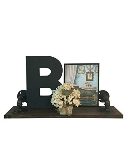 Rustic Wall Hanging Bathroom Shelf