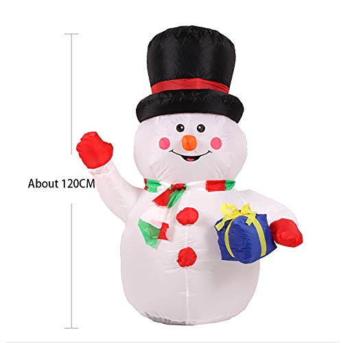 Light Led selbstschneiender Schneemann mit Schneefall Beleuchtet Aufblasbar Snowman Outdoor Schneiender Weihnachtsbeleuchtung weihnachtsdeko Weihnachtsfigur