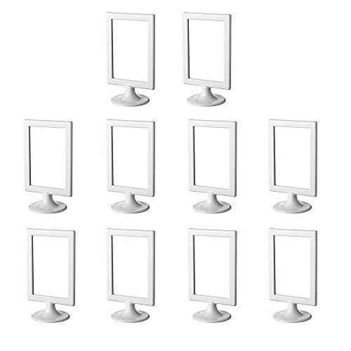 IKEA Tolsby 301.510.35 Doppelseitiger Bilderrahmen oder Tischnummernhalter Packung mit 10 Farben Weiß